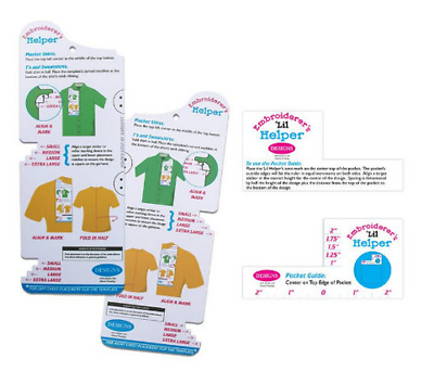 Embroiderer's Helper & Lil Helper Bundle Design Placement On Garments Eh0003