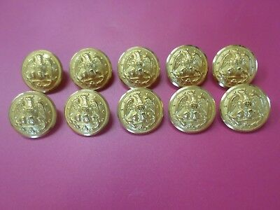Lot of 10 U.S. Navy Dress Buttons WW 2 or later Vintage Waterbury Co Gold Brass