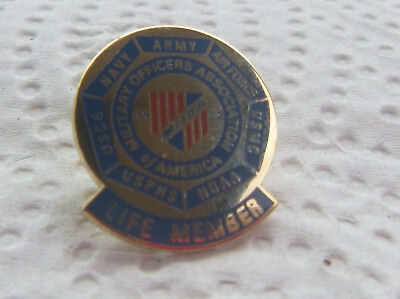 Vintage Military Officer Association Of America Life Member MOAA Pin #205