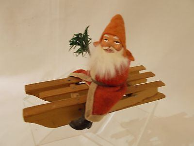 🎄 GERMAN Santa / Belsnickle on Sled Candy Container 🎄