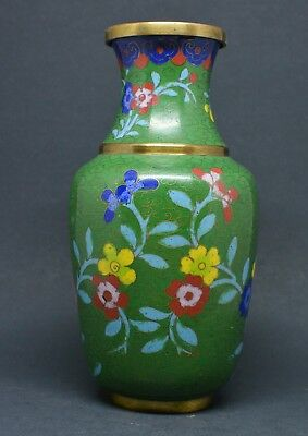 Antique Chinese Cloisonne Vase ~ 6.25 inches tall ~