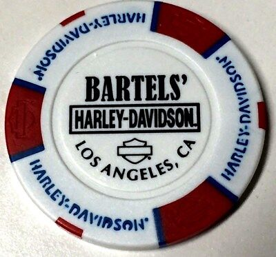 Harley Poker Chip       BARTELS HD     LOS ANGELES, CA     RED, WHITE & BLUE