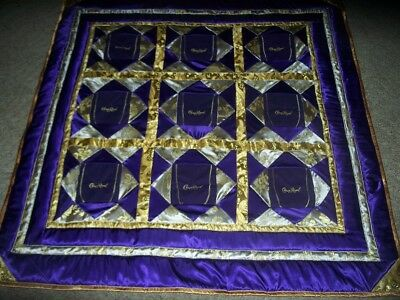"Crown Royal Lap quilt  63"" x 65""  Down with Crown bags with NECK PILLOW"