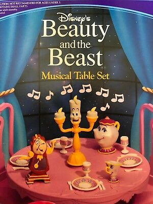 1993 Disney Beauty and The Beast Musical Table Set