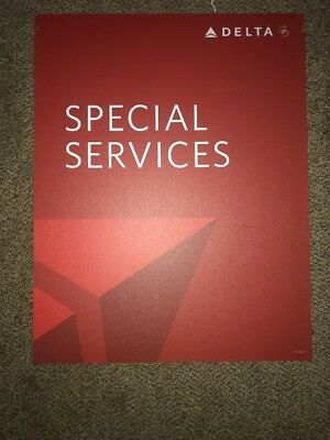 """Delta Airlines Special Services Sign 22""""X28"""""""