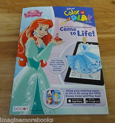 NEW Disney Princess Color Play Coloring Book
