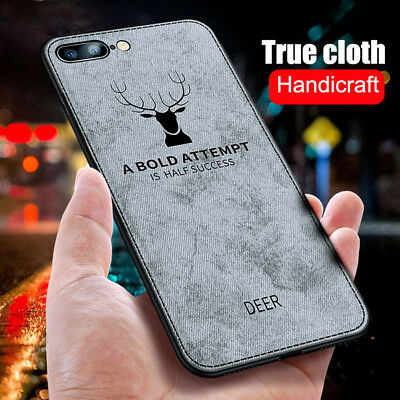 Hybrid Shockproof Soft TPU Silicone Cloth Phone Case Cover For iPhone XS Mas XR