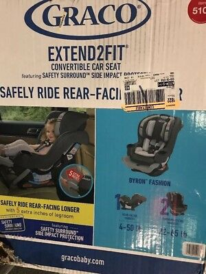 Graco Extend2Fit Convertible Car Seat, One Size Byron