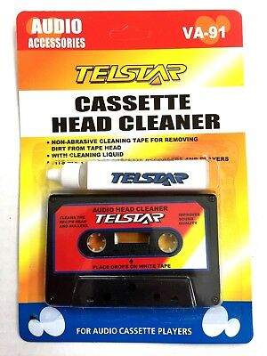 AUDIO Cassette Tape Head Cleaner + Cleaning Solution, TOP Quality-NEW Sealed
