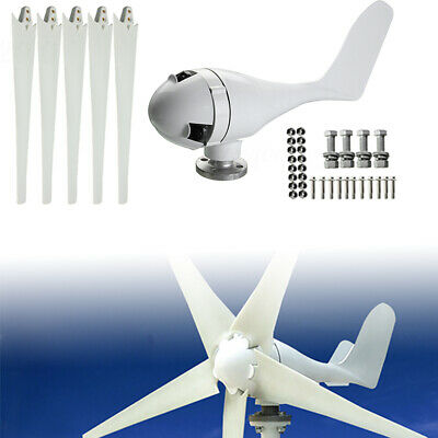 400W DC 24V 5 Blades Horizontal Wind Turbine Generator W/ Charge Controller