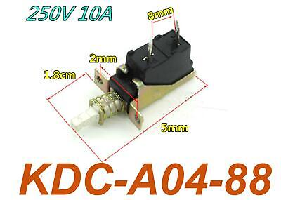 5Pcs KDC-A04-88 TUV  10A 250V AC SPST 2 Pins Push Button Power Switch