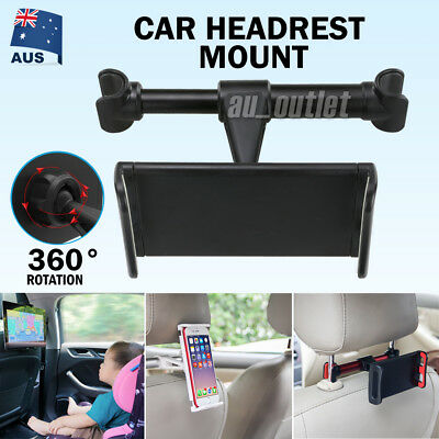 Car Seat Back Headrest Mount Holder for 4.4-11 inch iPad Phone Tablet