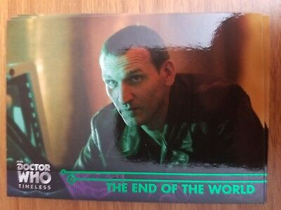 2016 Topps Doctor Who Timeless #39 The End of the World GREEN NrMt-Mint