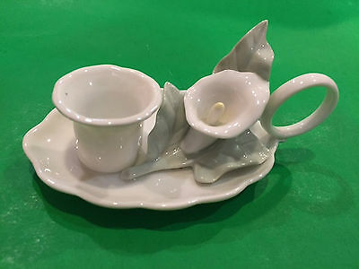 Delicate  Calla Lily Chamber Candlestick