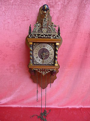 Beautiful, Antique Pendulum Clock ___ Figurine Clock __Holz-Messing_