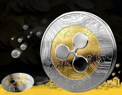 Gold&Silver Plated Ripple coin XRP CRYPTO Commemorative Ripple XRP Collectors UK