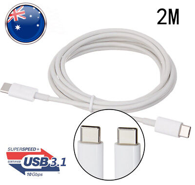 2M USB Type-C to USB-C 3.1 Male to Male Sync & Charging Cable Type-C to Type-C A