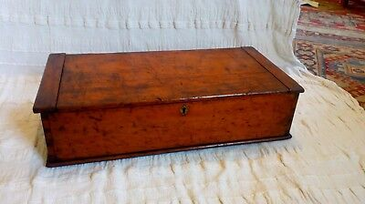 antique victorian pine tool box chest rare makers label inside