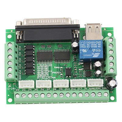 CNC 5 Axis Interface Breakout Board für Stepper Motor Driver CNC Mill MAC Gift