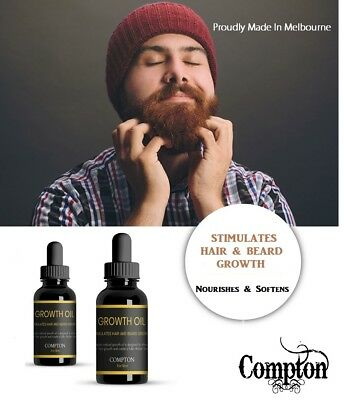 Compton Beard Growth Oil - Thicker , Softer Healthier Hair Growth - It Works