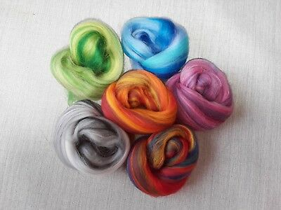 30g Merino Wool Blend Pack in Mixed Colours, Felting, Needle Felting, Spinning