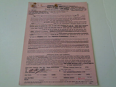 Allman Brothers Full Concert Contract June 15/16 1979 Pine Knob Clarkston Mi