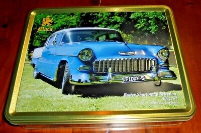 Mac's Biscuit Tin ~ 1955 Two Tone Chevrolet pictured... Made in Australia