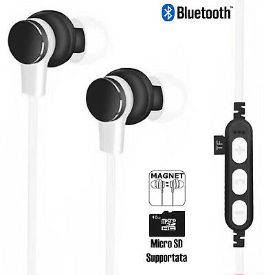 Cuffiette Auricolari bluetooth wireless cuffie sport sd iPhone Samsung Huawei