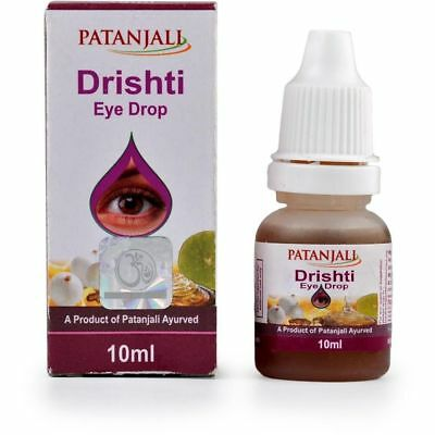 NEW PACK OF Patanjali divya Drishti Eye Drops 10ML For Tired Eyes 100% pure