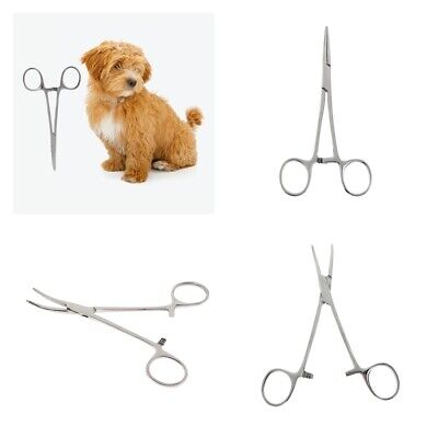 1Pc Premium Quality Pet Grooming Ear Hair Puller Locking Hemostat Forcep Plier