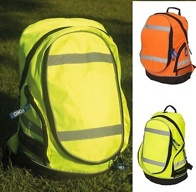 Hi-Vis London Rucksack YK150 - Back pack School Gym Safety Yellow Orange