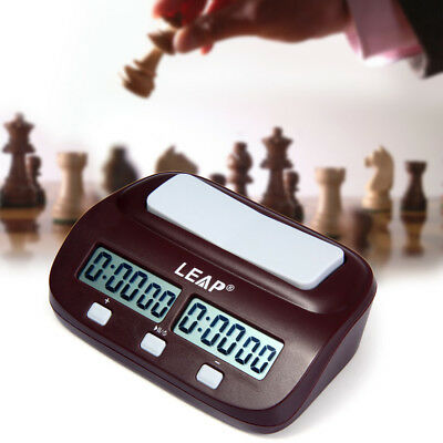 LEAP PQ9907S Digital Chess Clock I-go Count Up Down Timer for Game Competitions