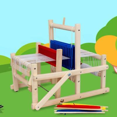 Wood Knitting Loom Yarn Shuttle Comb DIY Educational Toy Gifts Kit,