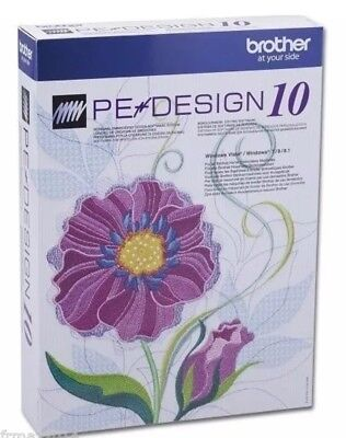 Brother PE Design 10 Full embroidery software 1000's of Free PES Designs
