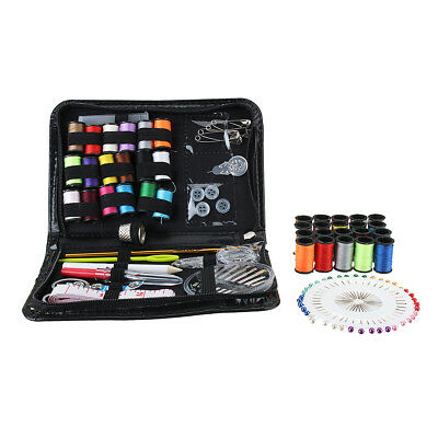 134Pcs Leather Craft Tool Kit Needle Sewing Tape Thread Stitching Travel Home