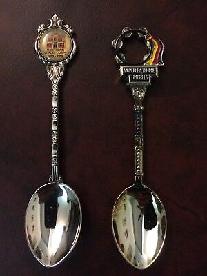 Salvation Army Waverley Temple Timbrel spoon and Hawthorn Corps Centenary spoon