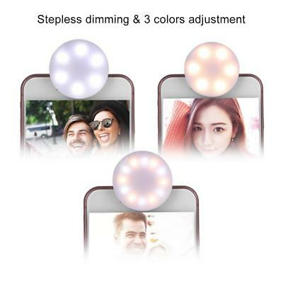 Portable USB Rechargeable Clip On Selfie LED Light Camera Flash For Mobile Phone