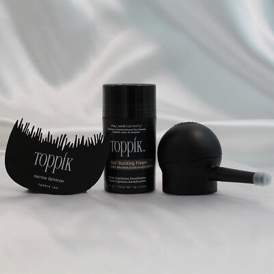 TOPPIK Hair Building Fibers 12g With Spray Applicator And Optimizer