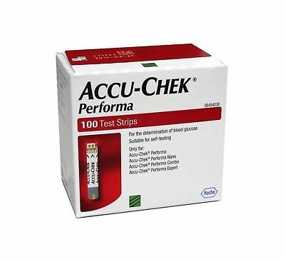 Accu-Chek Performa 100 Test Strips, Glucometer Blood glucose Exp June 2020