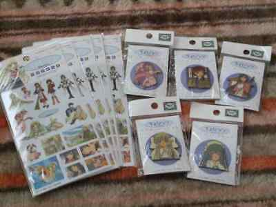 Chobits Clear Sticker & Pins Collection Set