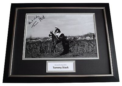 Tommy Stack Signed Framed Photo Autograph 16x12 display Red Rum Grand National