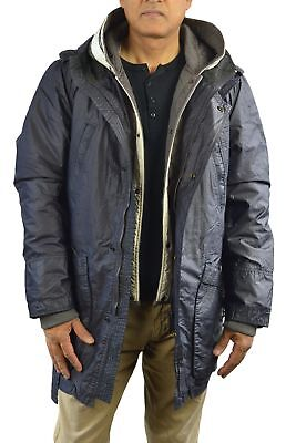 Scotch & Soda Hooded Parka w/Separate Polyester Quilted Jacket Men (L) Black