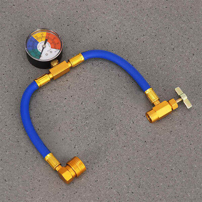 AC R134A w/Gauge SPD Car Auto Air Conditioning Refrigerant Recharge Measure Hose