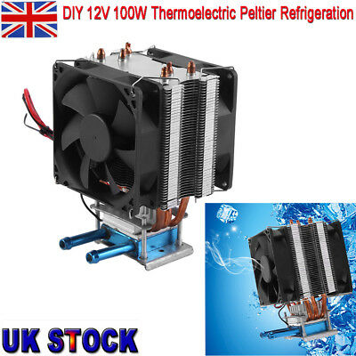 Thermoelectric Peltier Refrigeration Water Cooling System Kit Cooler Fan 12V 20A