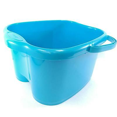 Blue Deep Foot Bucket Basin Carry With Carry Handle For Foot Bath Soak & Detox