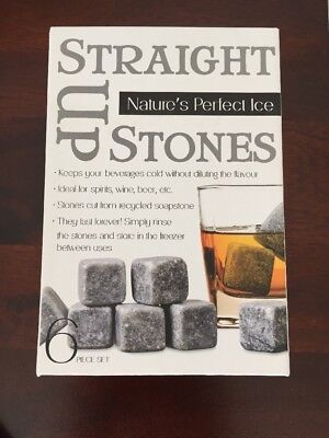 As New - Set Of Whisky/spirit Stones - Keep Your Drinks Cold Without Ice