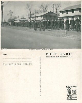 WWII TEN RPPC's Reception Center Scenes Army Soldiers Unposted