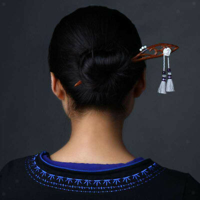 Chinese Traditional Wooden Hairpin Classical Lady Hair Combs Sticks Handmade