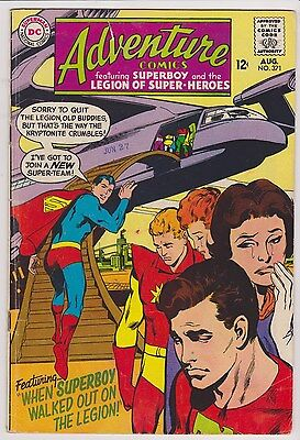 Adventure Comics #371 - Superboy & The Legion of Super-Heroes, VG - Fine Cond