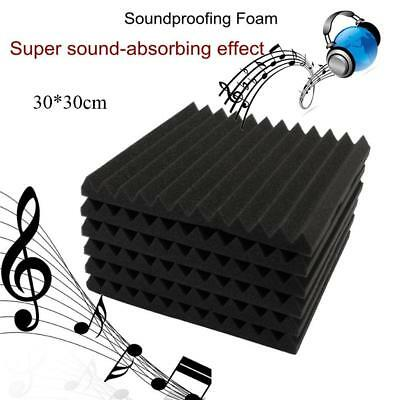 "12 Pack - Acoustic Panels Studio Soundofing Foam Wedge tiles 1""x12""x12"" Set:"